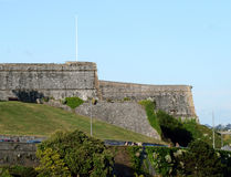 The Citadel. This is a section of the famous Citadel on Plymouth Hoe  in the County of Devon UK. Built at the time of the Napoleonic wars for the defence of the Stock Image