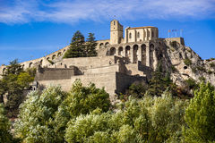 Citadel of Sisteron fortifications, Southern Alps, France Stock Photography