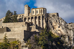 Citadel of Sisteron and its fortifications, Alps, France Royalty Free Stock Photography