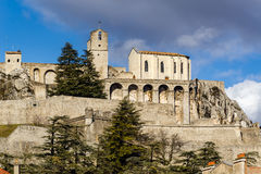 Citadel of Sisteron and its fortifications, Southern Alps, France Stock Photos