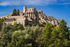 Citadel of Sisteron and its fortifications, Southern Alps, France Royalty Free Stock Images