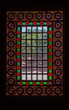 Citadel stained glass vertical Royalty Free Stock Photo