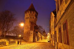 Sibiu Transylvania. The citadel street in Sibiu Stock Photo