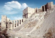 Citadel van Aleppo stock afbeeldingen