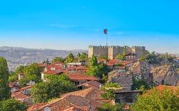 Citadel van Ankara - Ankara, Turkije stock foto's