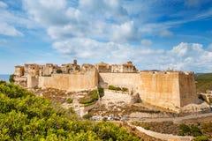 Citadel van Bonifacio, Corse, Frankrijk stock afbeelding