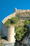 Citadel van Bonifacio - Corsica, Frankrijk stock foto's