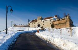 Citadel van Brasov, Roemenië (het land van Transsylvanië) Stock Foto
