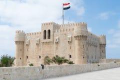 Citadel van Qaitbay in Alexandria Egypt stock afbeelding