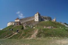 Citadel van Rasnov, Roemenië stock afbeeldingen