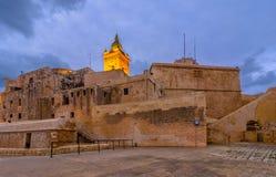 The Citadel, Victoria, Gozo, Malta. Sunset over the Citadel fortres on island Gozo,Malta island Royalty Free Stock Photo