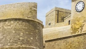 Citadel of Victoria on island Gozo. Victoria also known among the native Maltese as Rabat on maltese island Gozo.  Cittadella or Citadel lies in the heart of Stock Image