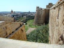 Citadel wall and city Royalty Free Stock Photo
