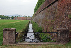 Citadel wall and small river arround royalty free stock image