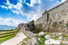 Citadel wall in Visegrad Royalty Free Stock Photos