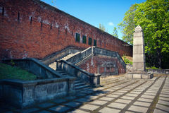 Citadel in Warsaw - gallows remains Stock Photo