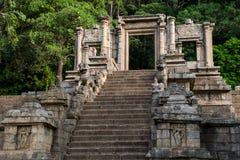 The citadel of Yapahuwa , Sri lanka. Yapahuwa was one of the ephemeral capitals of medieval Sri Lanka. The citadel of Yapahuwa lying midway between Kurunagala Stock Photo