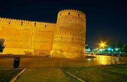 A citadela com torre inclinada, Shiraz, Irã Fotos de Stock Royalty Free