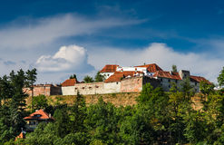 Citadela de Brasov. Romania, a Transilvânia. Imagens de Stock Royalty Free