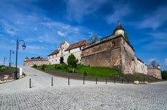 Citadela de Brasov, a Transilvânia, Romania Fotos de Stock Royalty Free