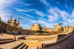 Citadela de Saladin com mesquita do alabastro imagens de stock