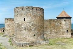 Citadela do castelo da fortaleza de Bilhorod-Dnistrovskyi Akkerman em Ucrânia Fotos de Stock