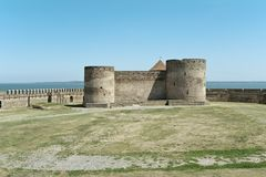 Citadela do castelo da fortaleza de Bilhorod-Dnistrovskyi Akkerman em Ucrânia Foto de Stock