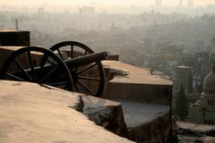Citadela e arquitectura da cidade do Cairo fotografia de stock