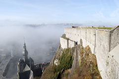 Citadela e igreja de Dinant Imagem de Stock Royalty Free