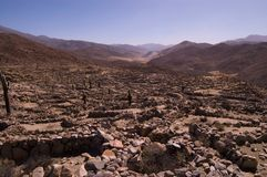 Citadela fortificada da civilização de Quilmes Fotos de Stock Royalty Free