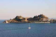 Citadela velha na cidade Grécia de Corfu Imagem de Stock