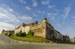 Citadelen från Brasov, Rumänien Arkivbild