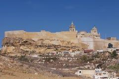 Citadell överst av kullen i Victoria, på ön av Gozo Royaltyfri Bild