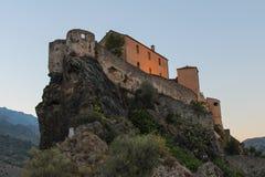 Citadell av Corte, Corse, Frankrike Royaltyfri Bild