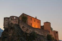 Citadell av Corte, Corse, Frankrike Royaltyfria Foton