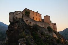 Citadell av Corte, Corse, Frankrike Royaltyfri Foto