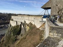 Citadell i Dinant (Belgien) arkivbilder