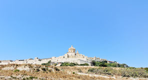 Citadella fortified city on Gozo island, Malta Royalty Free Stock Images