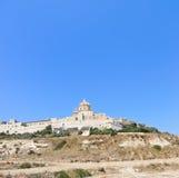 Citadella old fortified city on Gozo island, Malta Stock Image