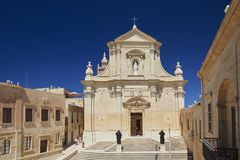 Citadella in Victoria, Gozo, Malta. The Cathedral of the Assumption is a Roman Catholic cathedral in the Cittadella of Victoria in Gozo, Malta Stock Photos