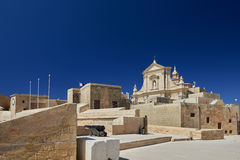 Citadella in Victoria, Gozo, Malta. The Cathedral of the Assumption is a Roman Catholic cathedral in the Cittadella of Victoria in Gozo, Malta Stock Photo