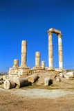 Citadelle, Amman, Jordanie Images libres de droits