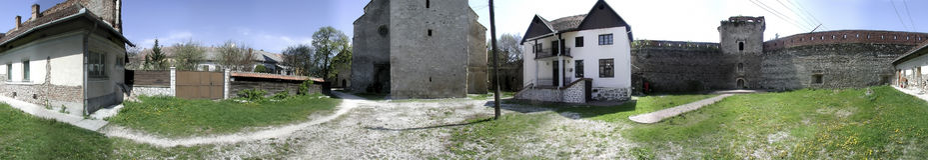 Citadelle d'Aiud 360 degrés de panorama Image stock