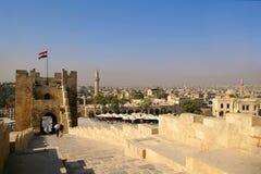 Citadelle d'Aleppo Image stock