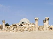 Citadelle d'Amman image stock