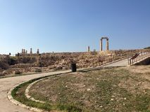 Citadelle d'Amman images stock