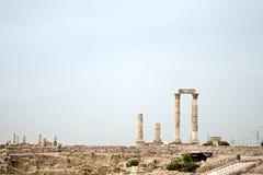 Citadelle d'Amman - Jordanie Images libres de droits