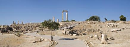 Citadelle d'Amman, Jordanie Images libres de droits
