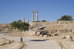 Citadelle d'Amman, Jordanie Photo libre de droits