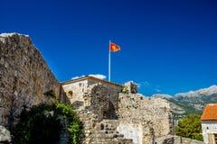 Citadelle dans la vieille ville de Budva Image stock